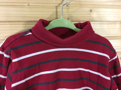 Size 3T Kids OLD NAVY Red Stripe Turtle Neck Shirt