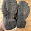 Size 6 Little Kids Grey and Red Sandals bottom