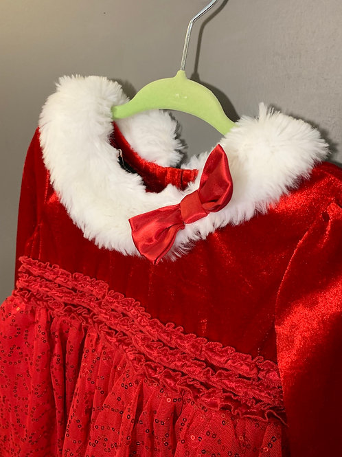 Size 4T HOLIDAY EDITIONS Red Santa Dress
