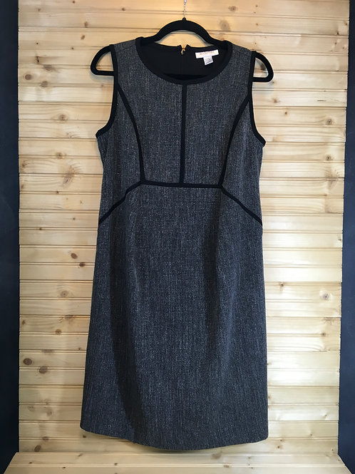 Size M MOTHERHOOD Steel Grey Maternity Dress