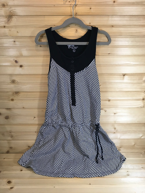 Size L Youth OLD NAVY Black and White Jumper Dress