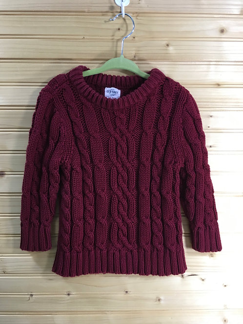 Size 18m OLD NAVY Red Cable Knit Sweater