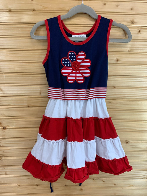 Size 7 EMILY ROSE Fourth of July Flower Dress, Used