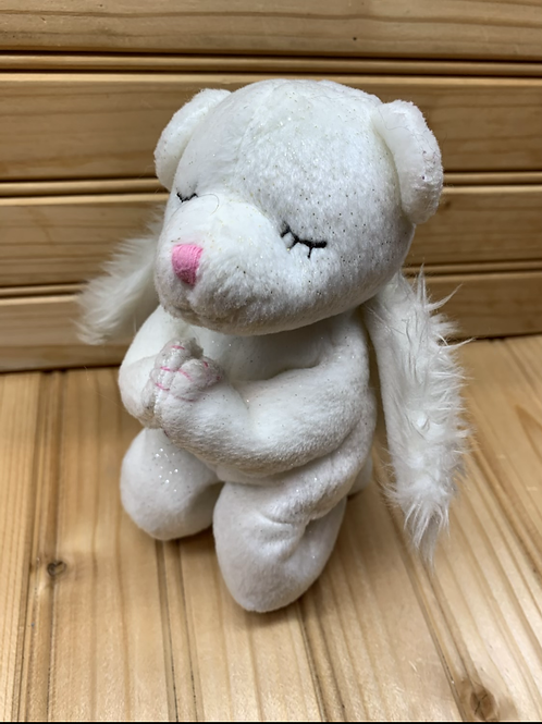 HOLY BEARS White Praying Angel Bear