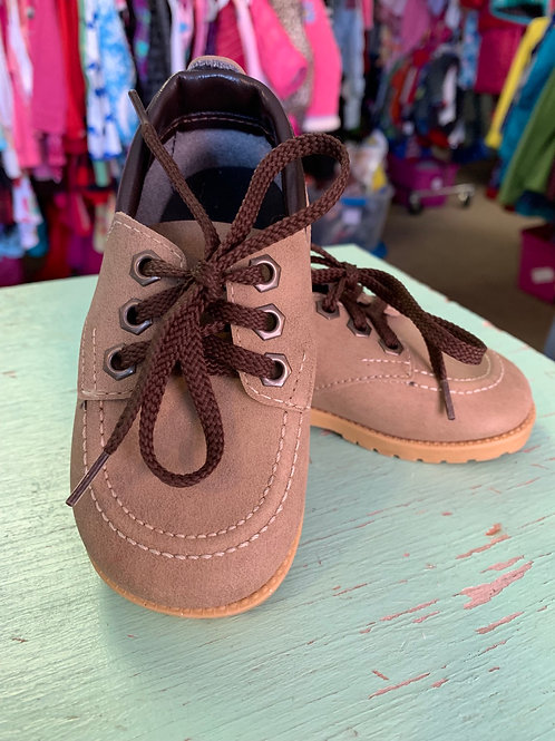5 Toddler - Tan Suede Shoes