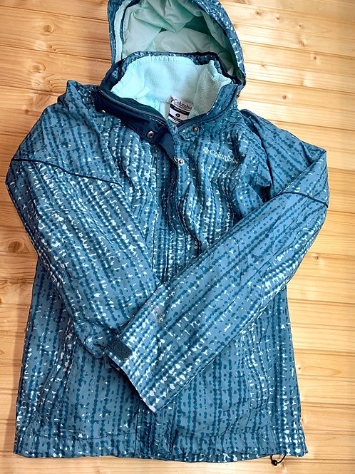 Size S Women's COLUMBIA Teal Blue Winter Jacket