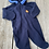 Size 3-6m Blue Fleece Bunting and Sack Set