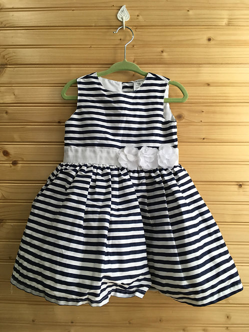 Size 18m CARTER'S Navy and White Stripe Dress