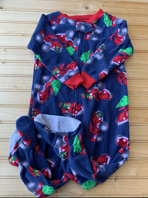 Size 18m CARTER'S Navy and Red Christmas Truck Fleece PJ