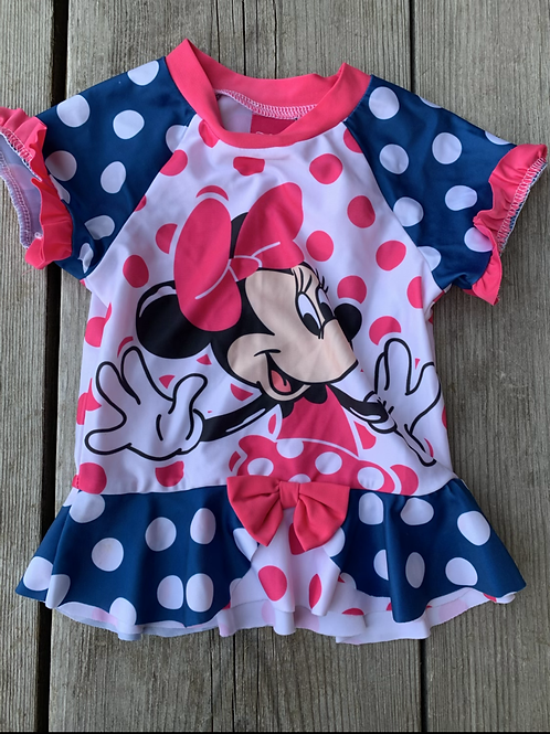 Size 3T DISNEY Minnie Mouse Rash Guard