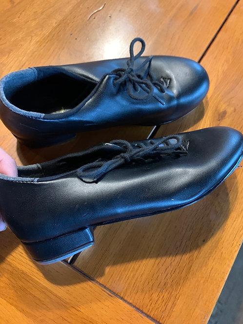 Size 12S Lil' Kids Black Lace Up Tap Shoes