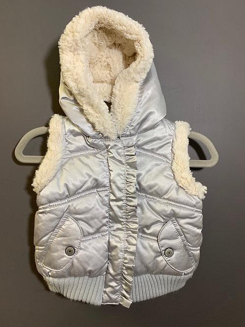Size 6-12m OLD NAVY Silver Vest