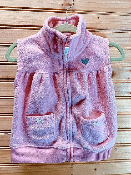 Size 12m CARTER'S Pink Fleece Vest, Used