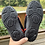 Size 10/11 Kids SHOCKED Black and Red Water Shoes bottom