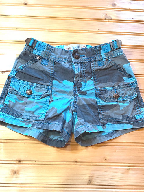 Size 6x/7 CHILDREN'S PLACE Blue Camo Shorts, Used