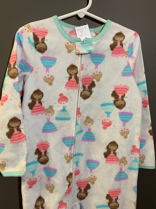 Size 4T CHILD OF MINE Dancing Fleece Footie Pajamas