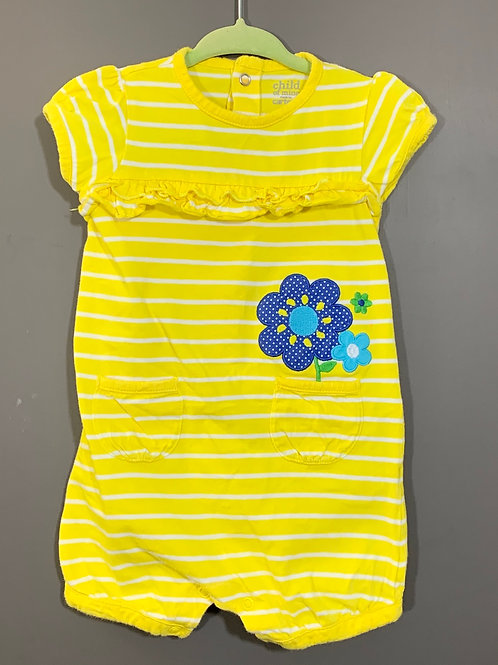 Size 12m CARTER'S Yellow Striped Cotton Jumper, Used