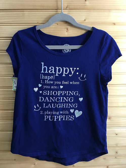 Size 7/8 Girls SO Blue Tee with Positive Descriptives