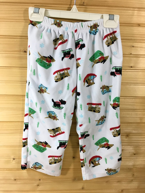 Size 3T CARTER'S Sledding Dogs Fleece Pajama Pants