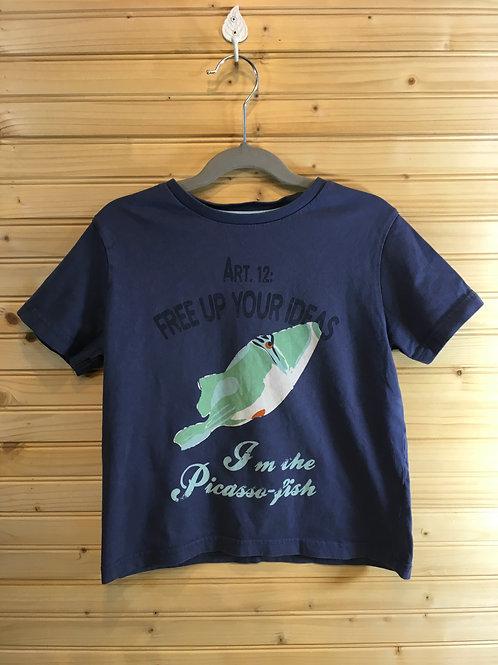 Size 8 Kids OKAIDI Picasso Fish Tee