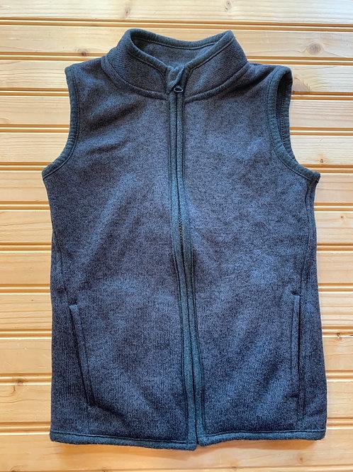 Size 4T Steel Grey Fleece Vest, Used