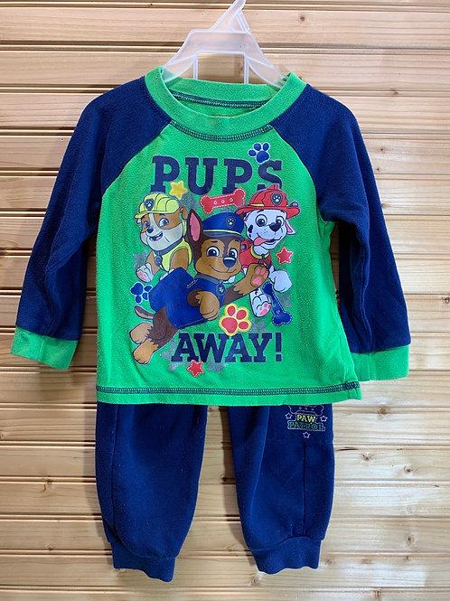 Size 3T Paw Patrol 2pc Sweat Suit, Used