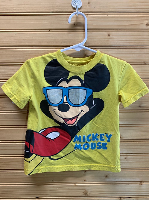 Size 18m DISNEY Yellow Mickey Mouse Shirt, Used