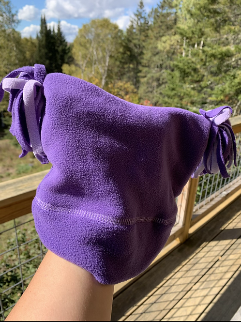 Purple Fleece Hat