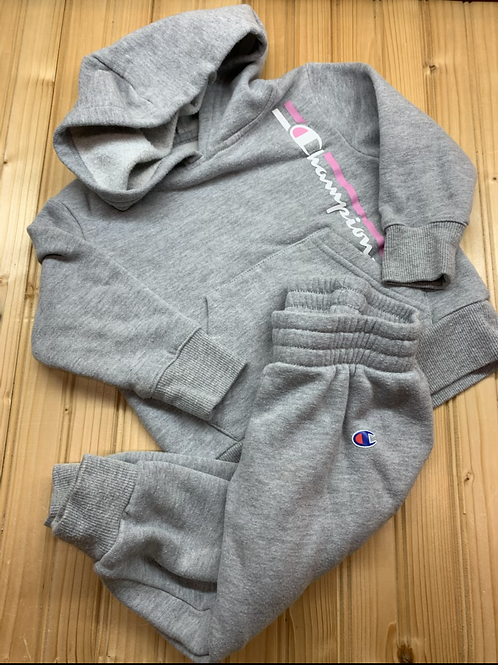 Size 2T CHAMPION Grey and Pink Sweat Suit