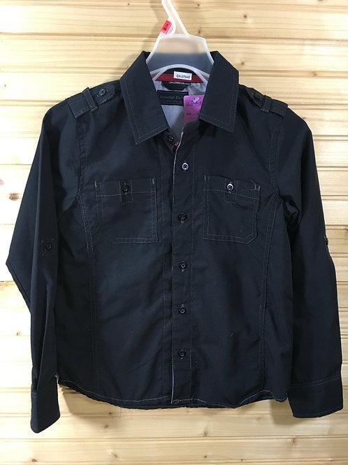 Size 6 Boys SOVEREIGN CODE Black Button-Down Shirt