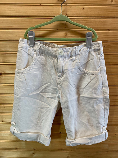 Size 12 Youth OLD NAVY White Cotton Shorts, Used