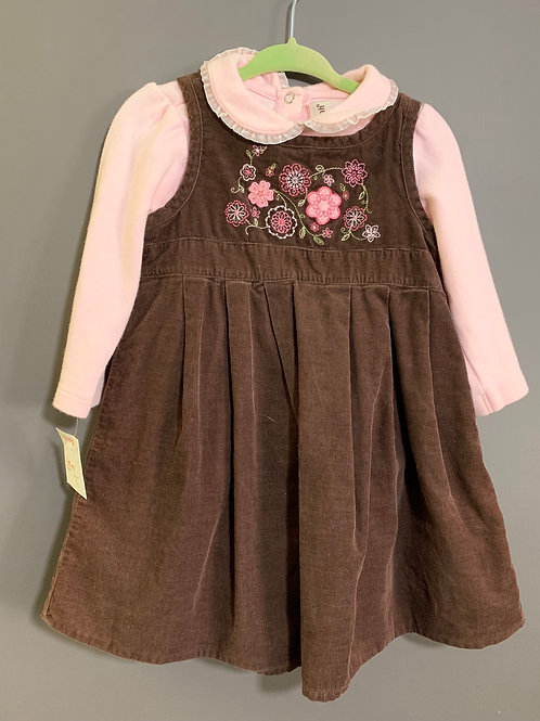 Size 18m SAVANNAH Pink Top and Brown Dress