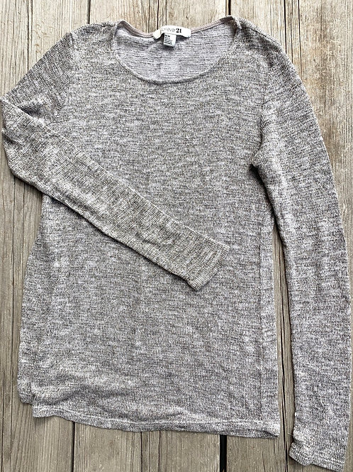 Size M FOREVER 21 Grey and Gold Sweater