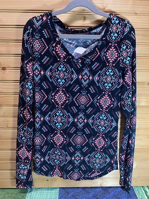 Size 3/5 Junior Pattern Shirt, Used