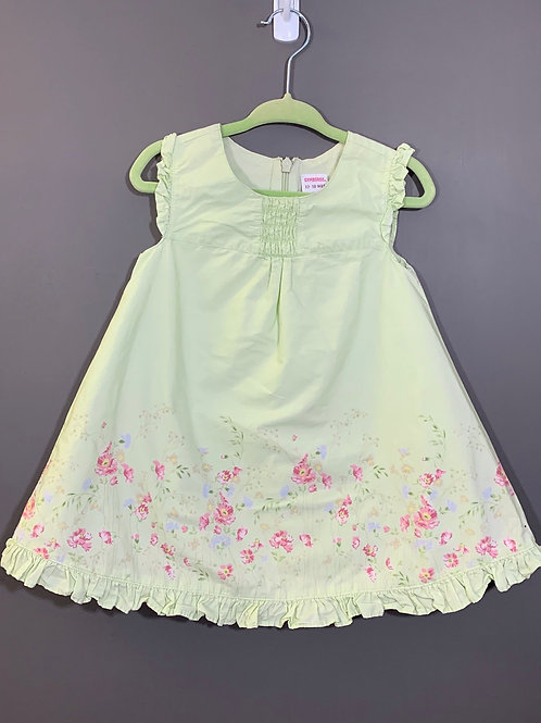 Size 12/18m GYMBOREE Pale Green Dress, Used