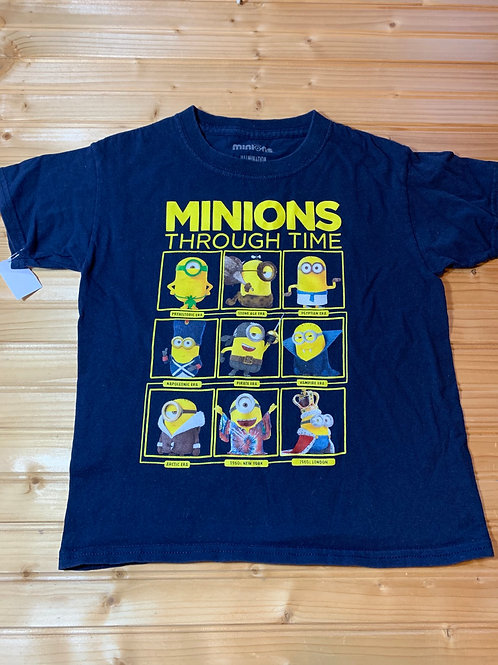 Size 8 Kids Minions Through Time Tee Shirt, Used