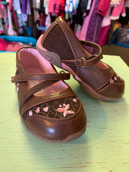 6 Toddler Brown and Pink Mary Janes