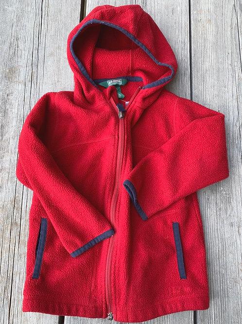 Size 4T LL BEAN Red Fleece Hoodie