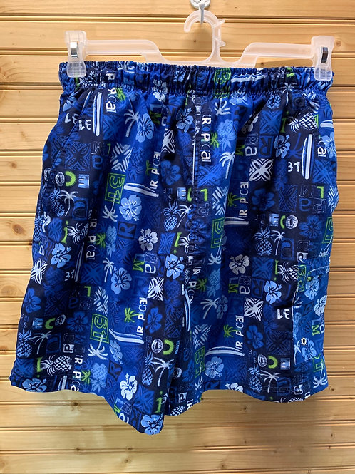 Size 32/34 SAND SUN Blue Swim Trunks, Used