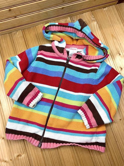 Size 2T GYMBOREE Striped Knit Hoodie