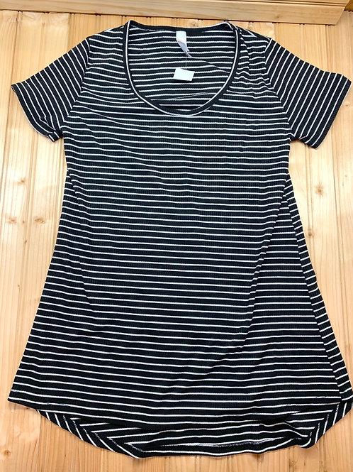 Size XXS LULAROE Black and White Stripe Shirt