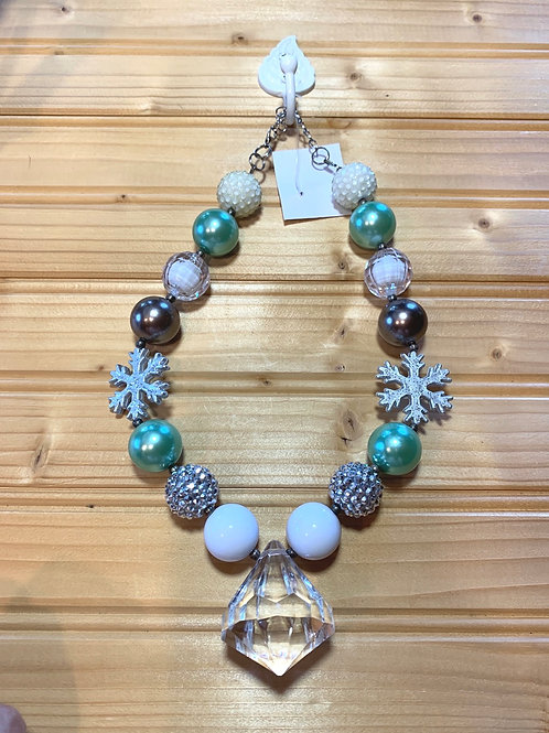 """19"""" Chunky Mint n Silver Necklace"""