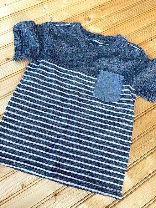 Size 5T Grey Striped Shirt