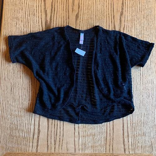Size 7/8 Black Shortsleeved Cardigan, Used