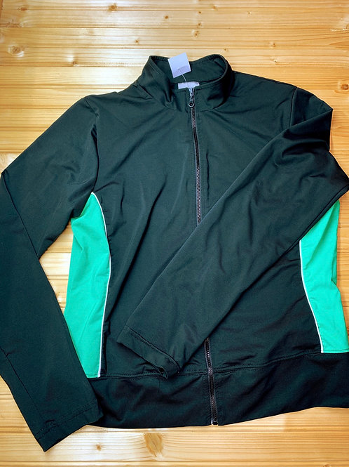 Size L (10/12?) Black and Green Jacket