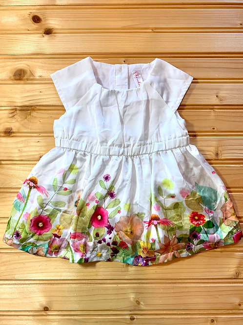 Size 0-3m Silky Floral Dress