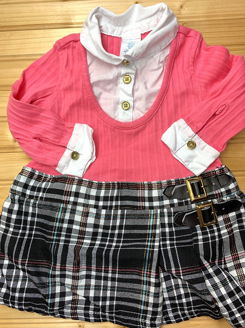 Size 12m WONDER KIDS Pink and Plaid Dress