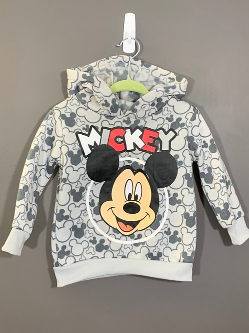 Size 12m DISNEY BABY Mickey Mouse Hoodie, Used