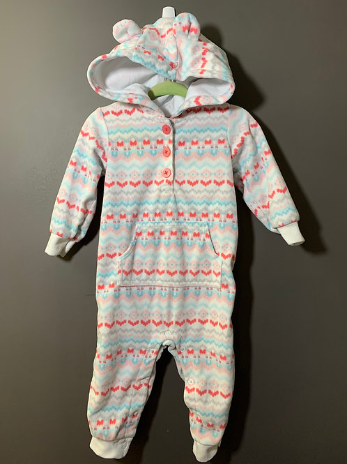 Size 12m CARTER'S Striped Hoodie Fleece Jumper