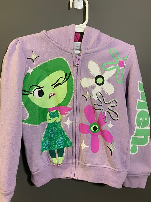 Size 5 Kids DISNEY Disgust from Inside Out Hoodie